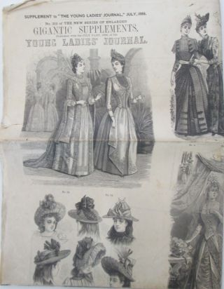 "Supplement to the ""Young Ladies' Journal,"" July, 1889. No. 212 of the New Series of Enlarged..."