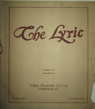 The Lyric. April 1923. Vol. 3 No. 4. authors
