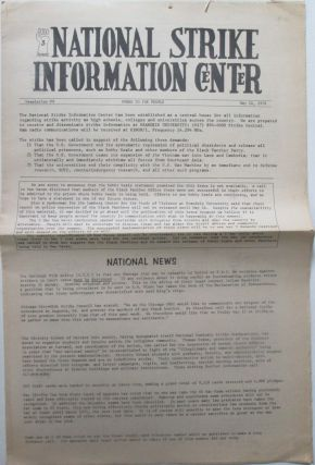 National Strike Information Center. Newsletter #9. May 14, 1970. Given