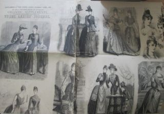 "Supplement to the ""Young Ladies' Journal,"" April, 1889. No. 209 of the New Series of Enlarged..."