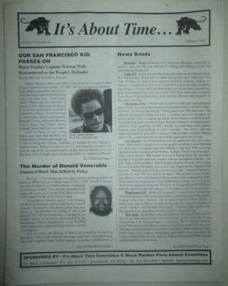 It's About Time... Summer 2001. Volume 5 Number 3. Mumia Abu-Jamal