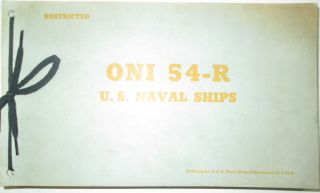 ONI 54-R U.S. Naval Ships. Given
