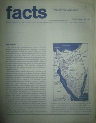 Facts Today in the Middle East. No. 15-January 30, 1975. given