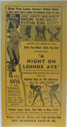 Gals! Gayety! Gals! Gayety! Dancing Runs Wild! Rhythm Runs Riot! Broadside Advertisement