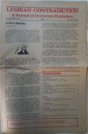Lesbian Contradiction. A Journal of Irreverent Feminism. Issue #21. Winter 1988. authors