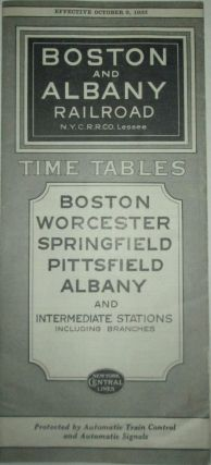 Boston and Albany Railroad Time Tables. Effective October 9, 1933. given