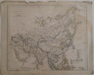 Asia. 19th Century Map. F. P. Becker, Engraver