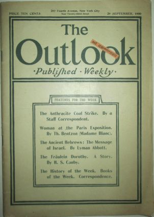 The Outlook. 29 September, 1900. authors