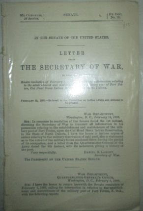 Letter from the Secretary of War, in response to Senate Resolution of February 1, 1895,...